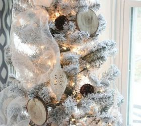 Rustic Glam Office Christmas With Diy Wood Slice Ornaments, Christmas  Decorations, Crafts, Seasonal