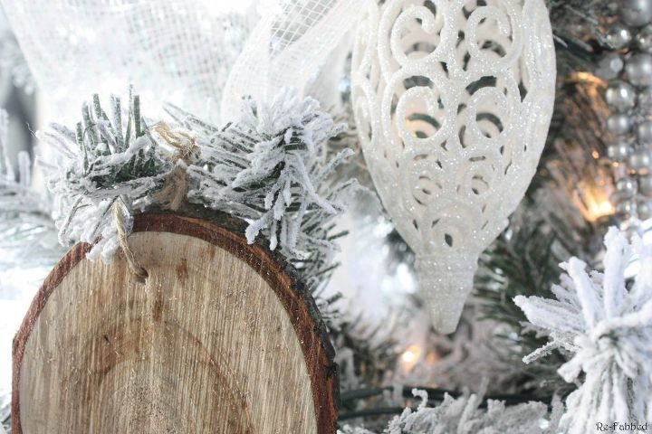 rustic glam office christmas with diy wood slice ornaments, christmas decorations, crafts, seasonal holiday decor