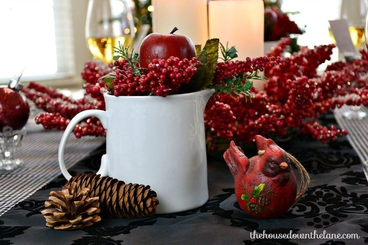 christmas eve tablescape with diy place cards homeforchristmas, christmas decorations, seasonal holiday decor