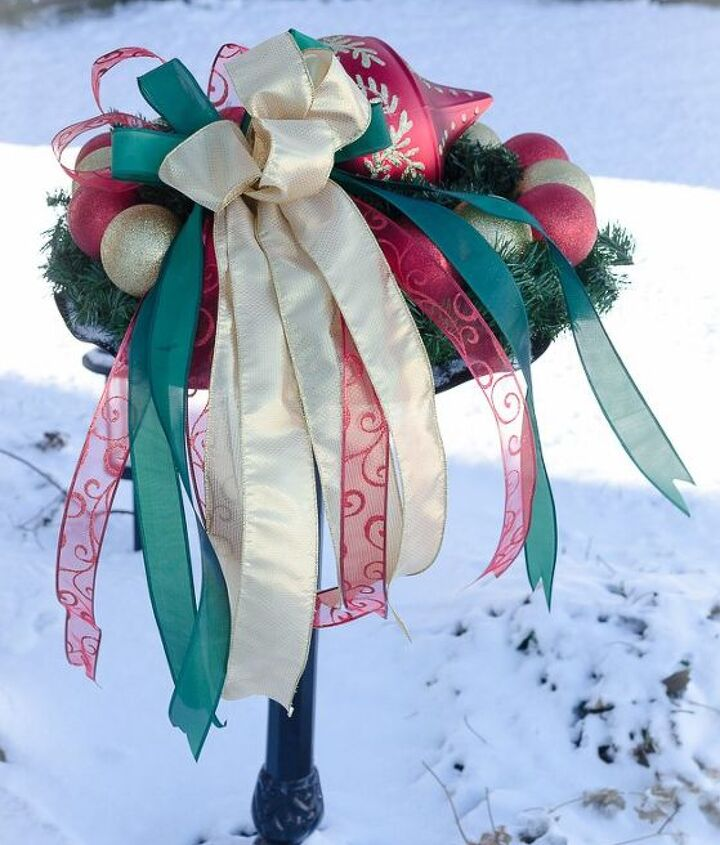 decorate your birdbath every christmas with this clever gorgeous idea, christmas decorations, outdoor living, seasonal holiday decor