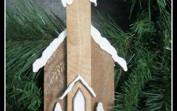 rustic pallet wood church ornaments, christmas decorations, pallet, seasonal holiday decor