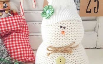 another use for goodwill sweaters snowmen, crafts, seasonal holiday decor