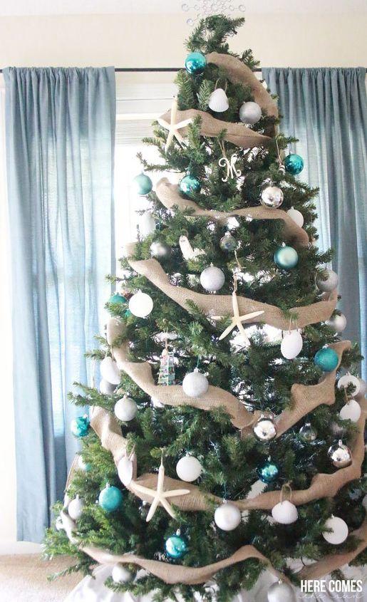 coastal christmas tree christmas decorations seasonal holiday decor