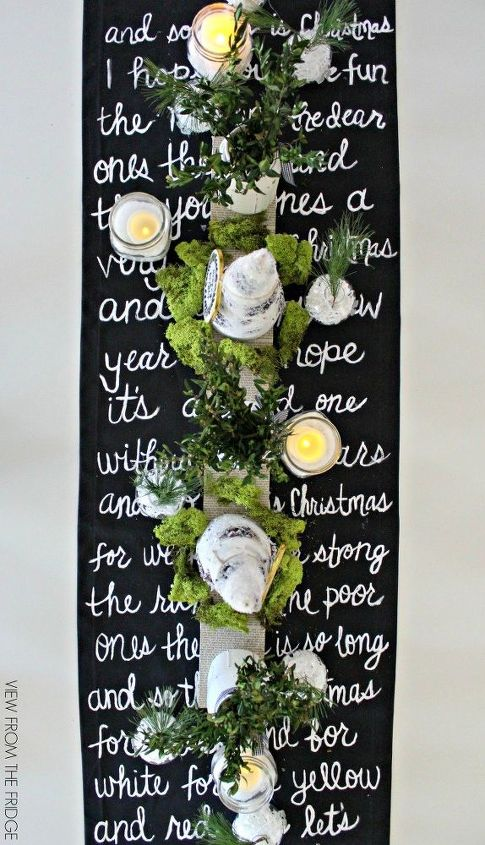 black and white christmas song lyric table runner christmas decorations dining room ideas - White Christmas Song Lyrics