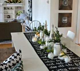 Black And White Christmas Song Lyric Table Runner, Christmas Decorations,  Dining Room Ideas,