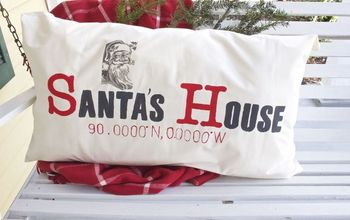 DIY Latitude and Longitude Pillow - Santa's House