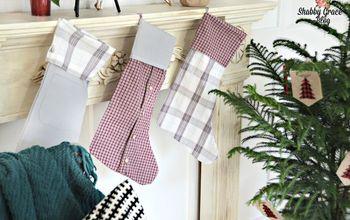 Thrift Shirt Christmas Stockings
