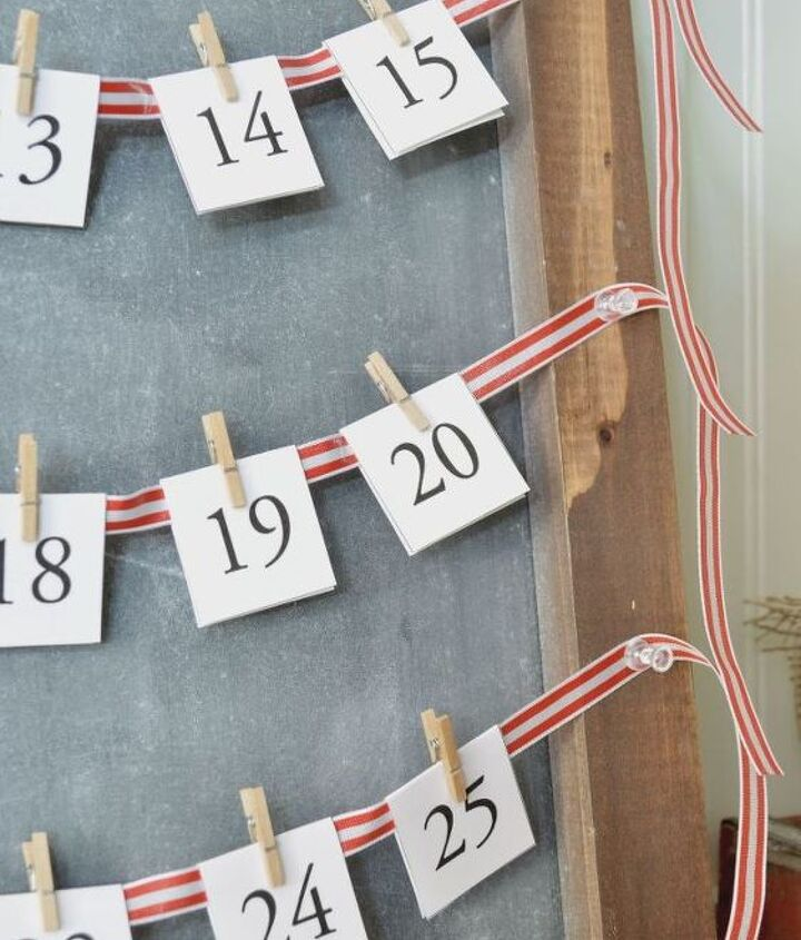 simple chalkboard advent calendar, christmas decorations, crafts, seasonal holiday decor