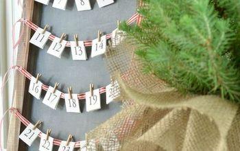 simple chalkboard advent calendar, christmas decorations, crafts, seasonal holiday decor