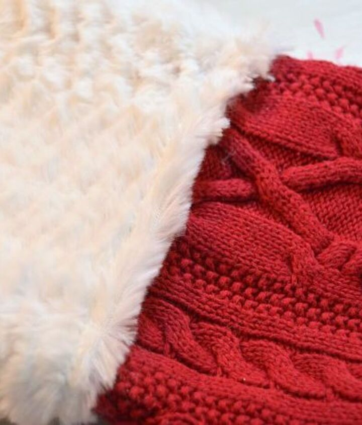 christmas stockings made from old sweaters, christmas decorations, crafts, repurposing upcycling, seasonal holiday decor