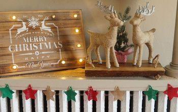 Effortless Burlap Star Bunting #homeforchristmas Blog Hop