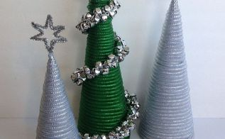 dollar tree mesh tube christmas trees, christmas decorations, crafts, how to, seasonal holiday decor