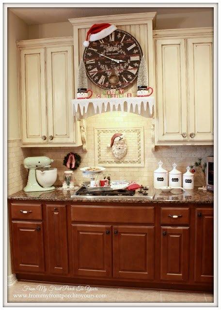 vintage christmas kitchen christmas decorations home decor kitchen design seasonal holiday decor - Vintage Christmas Home Decor