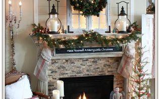 Cozy Farmhouse Christmas Mantel Decorations Fireplaces Mantels Seasonal Holiday Decor