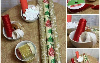 christmas gift wrapping made easy, christmas decorations, seasonal holiday decor
