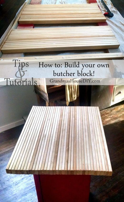 how to build your own butcher block, countertops, diy, how to, kitchen island, woodworking projects