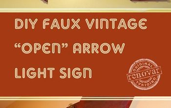 how to make a faux vintage arrow light sign, diy, woodworking projects