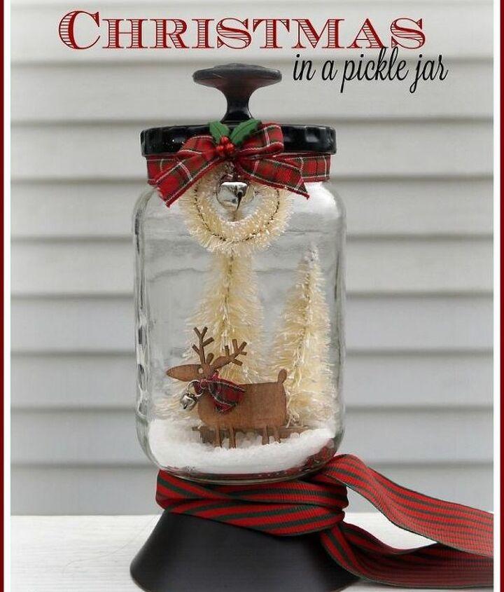 christmas in a pickle jar, christmas decorations, crafts, diy, mason jars, seasonal holiday decor