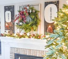 home for the holidays christmas tour styling a christmas mantel, christmas decorations, fireplaces mantels, home decor, seasonal holiday decor