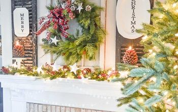 Home For The Holidays Christmas Tour... Styling A Christmas Mantel