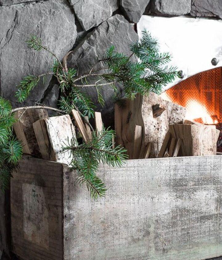 santa s picnic by the campfire a rustic christmas mantel, christmas decorations, fireplaces mantels, seasonal holiday decor