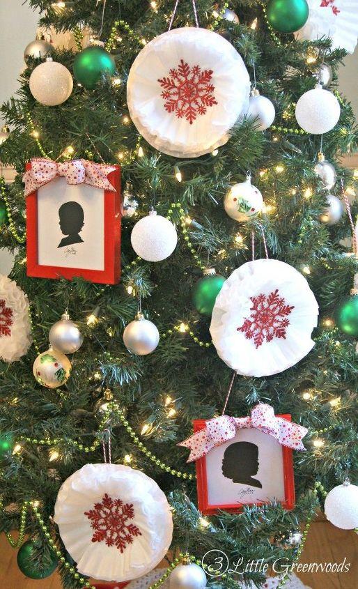 coffee filter snowflake ornaments super inexpensive christmas decor, christmas decorations, crafts, seasonal holiday decor