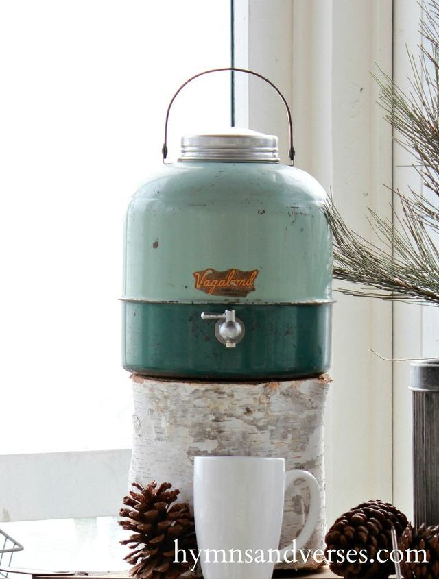 an outdoor s more hot cocoa station inspired by a vintage cooler, christmas decorations, home decor, seasonal holiday decor