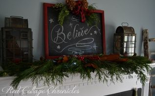 diy christmas chalkboard sign, chalkboard paint, christmas decorations, crafts, seasonal holiday decor