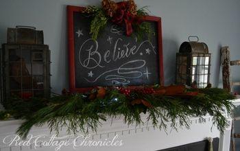diy christmas chalkboard sign, chalkboard paint, christmas decorations, crafts, seasonal holiday decor