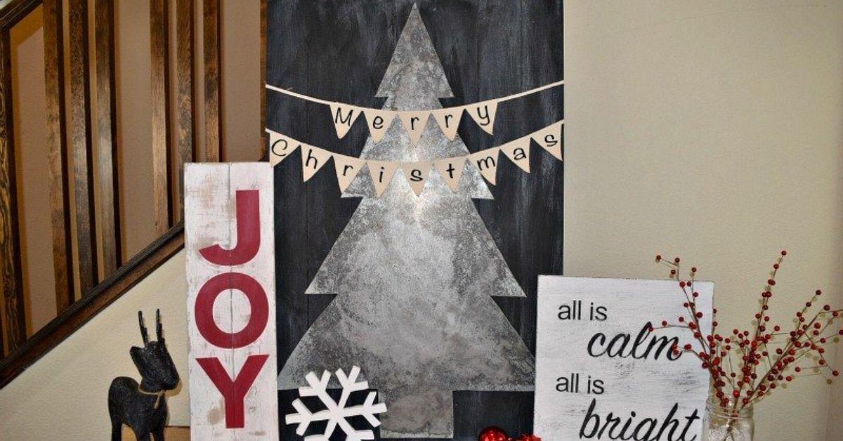 DIY - Joy Christmas Sign | Hometalk