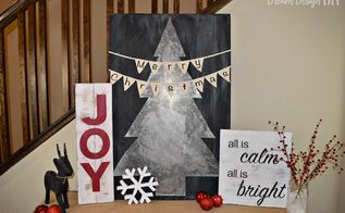 diy joy christmas sign, chalk paint, christmas decorations, crafts, seasonal holiday decor