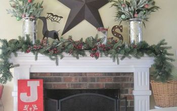 Cottage Christmas Mantel