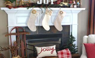 20 minute vintage christmas mantel, christmas decorations, fireplaces mantels, seasonal holiday decor