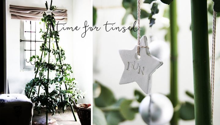 diy alternative christmas tree, christmas decorations, seasonal holiday decor