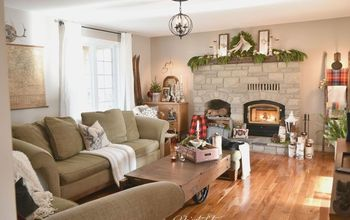 Rustic Farmhouse Christmas Mantel - Home for the Holidays