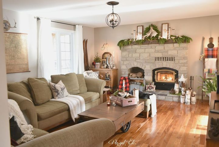 Rustic Farmhouse Christmas Mantel Home For The Holidays Decorations Fireplaces Mantels