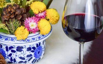 DIY Wreath Wine Glass Charms