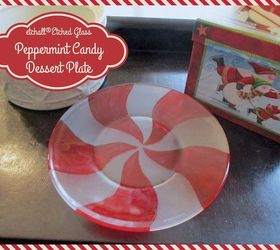 diy etched glass peppermint candy dessert plate christmas decorations crafts how to & DIY Etched Glass Peppermint Candy Dessert Plates for Christmas ...