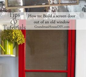 repurpose how to build a red screen door out of an old window doors & How to Build A Red Screen Door Out of An Old Window   Hometalk