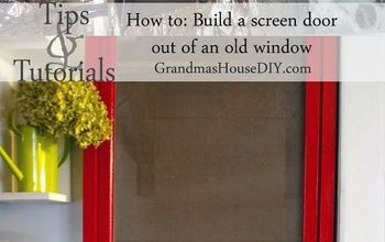 How to Build a Red Screen Door Out of an Old Window