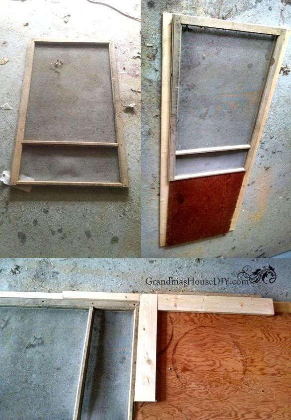 How to Build A Red Screen Door Out of An Old Window | Hometalk
