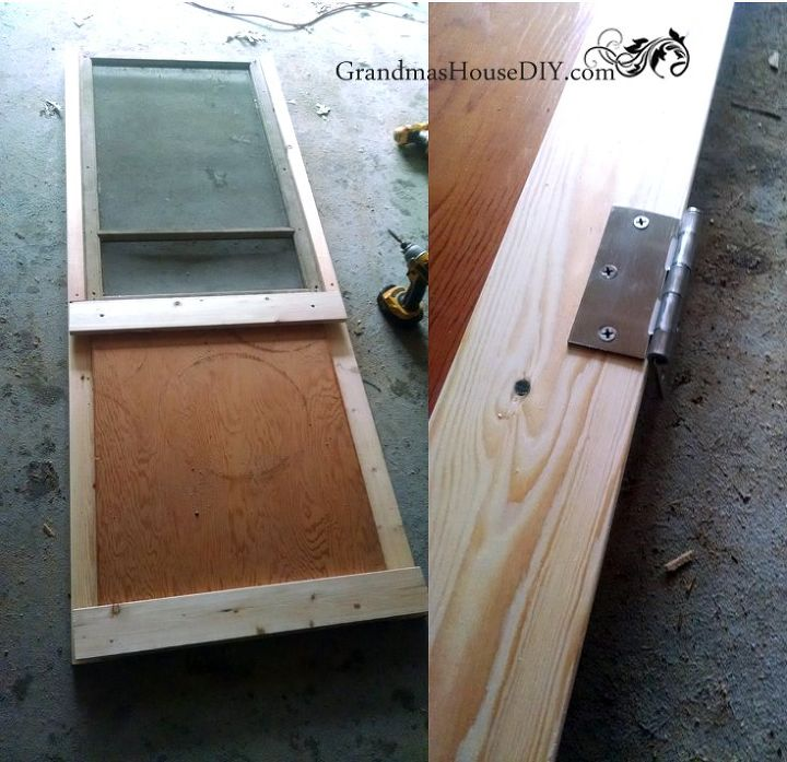 repurpose how to build a red screen door out of an old window, doors, how to, repurposing upcycling, woodworking projects