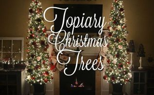 diy potted topiary skinny christmas trees in urns, christmas decorations, container gardening, diy, gardening, seasonal holiday decor