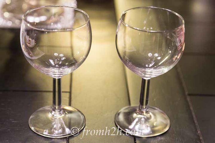 diy santa wine glasses, christmas decorations, crafts, seasonal holiday decor