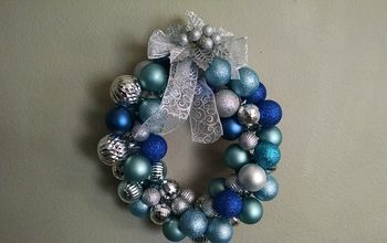 Holiday DIY:  Create A Beautiful Ornament Wreath For Around $10!