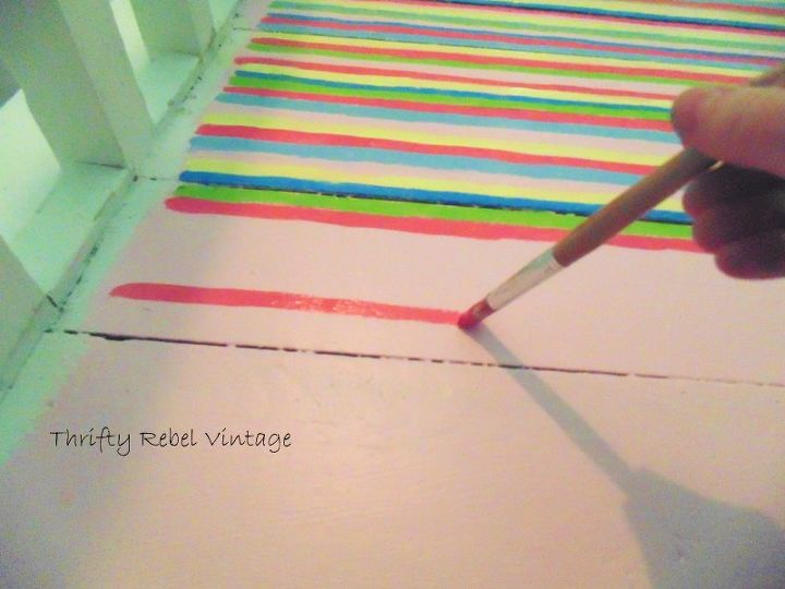 paint a fake rag rug how to, how to, painting