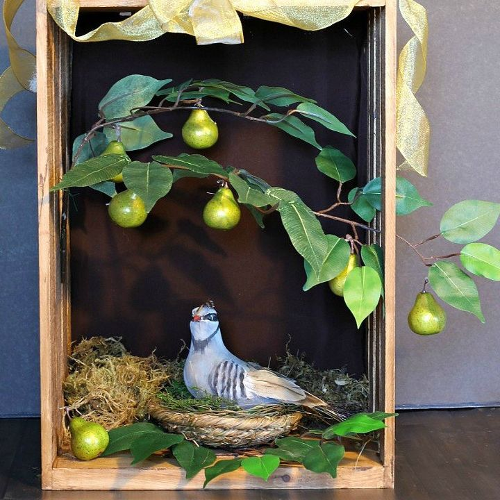 s 9 gorgeous ways to use a plain wooden crate for christmas, christmas decorations, repurposing upcycling, seasonal holiday decor, Set a Holiday Scene