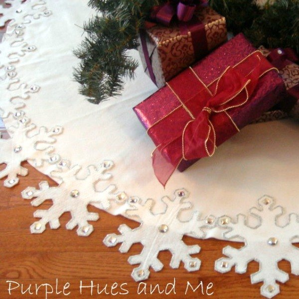 Purple Christmas Tree Skirt.15 Gorgeous Christmas Tree Skirts That Only Look Expensive
