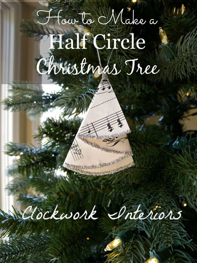 How to Make A Half Circle Christmas Tree Out of Sheet ...