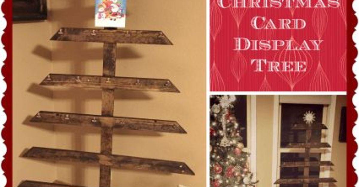 Rustic DIY Christmas Card Display Tree   Hometalk